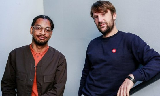 """ZilberandRene Redzepi. They are the authors of """"The Noma Guide to Fermentation"""", best seller published by Artisan (photo Christopher Ho/KCRW)"""