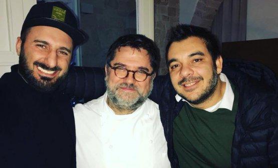 Giuseppe Boccassini e Felix Lo Basso con Angelo Sabatelli