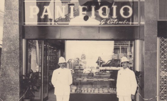 A historic image of the Colombo bakery