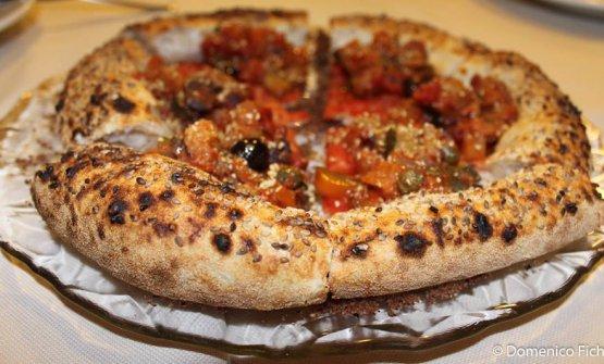 Una pizza firmata daAlessio Rovetta del 7 Ponti di Cenate Sopra