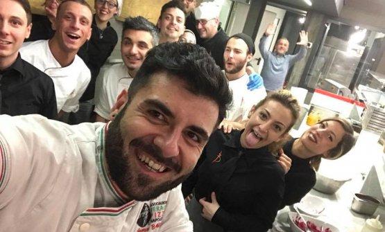 Selfie con tutta la squadra di Battil'oro