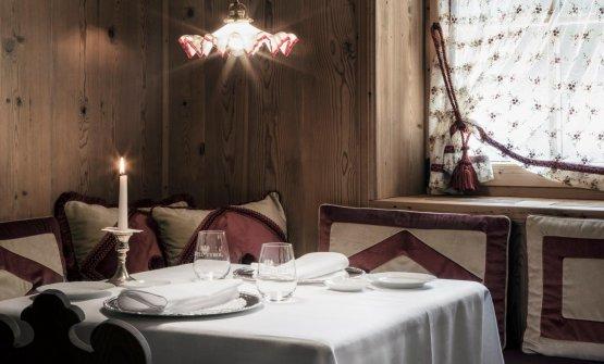 Una tavola dei Suinsom, il ristorante gastronomico del Tyrol