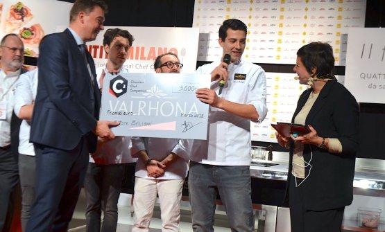 Beligni premiato a Identità Golose 2018 come vincitore del concorso C3 in Italia e dunque nominato a rappresentare in nostro Paese alla finale internazionale che si sarebbe tenuta l'anno successivo
