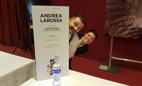 Lo chef con la compagna Patrizia Cappellaro, che cura la sala e la cantina