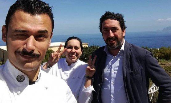 Caravello con Martina e Luca Caruso