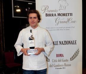 Giuliano Baldessari, ora all'Aqua Crua di Barbarano Vicentino, vincitore dell'edizione 2011, la prima
