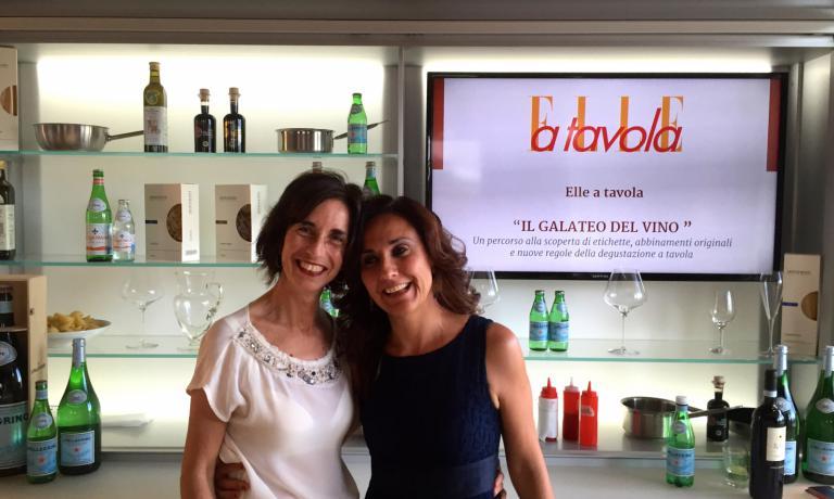 Il direttore di Elle a Tavola, Anna Bogoni, a sinistra, con Adriana Licciardello