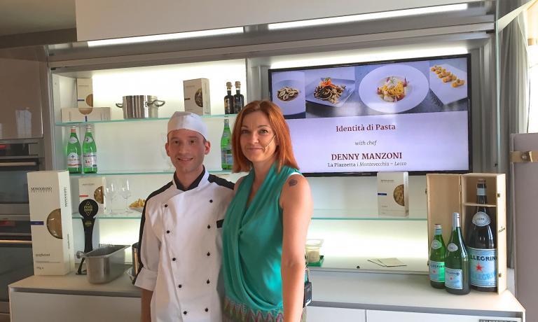 Denny Manzoni con Eleonora Cozzella a Identità di Pasta