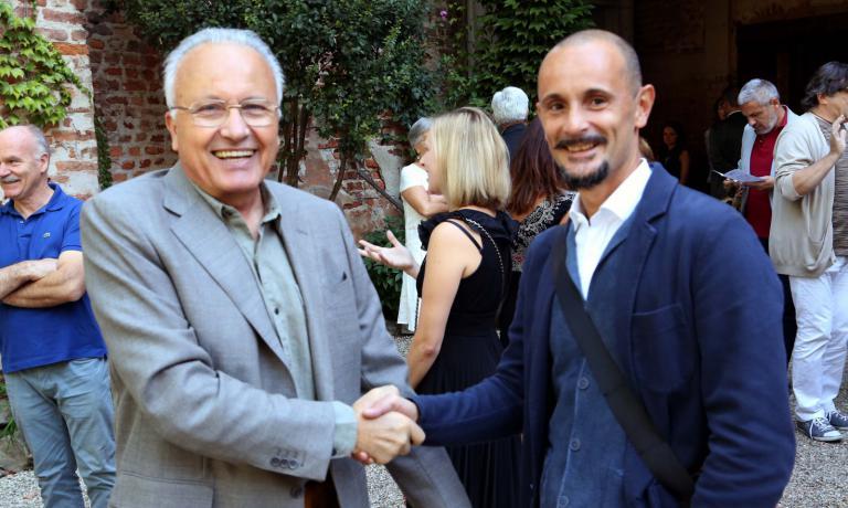 Enrico Crippa a Canale con Angelo Gaja