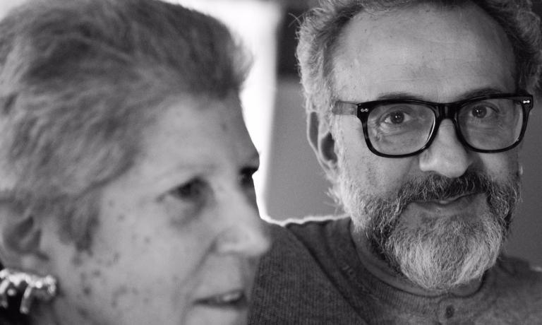 Massimo Bottura con Faith Willinger