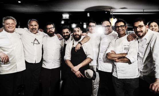 Peppe Guida, Mauro Bochicchio, Eugenio Boer, Christian e Manuel Costardi, Vitantonio Lombardo, Roberto Petza e Antonio Biafora (foto Marco Varoli)