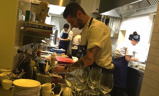 Luca Catalfamo, classe 1976, nella nuova cucina
