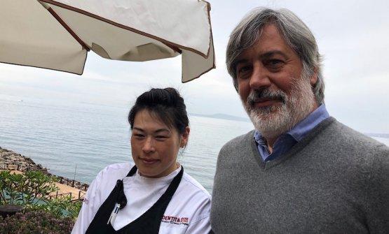 """FumikoSakai, chef e Giorgio Scarselli, """"patron non chef"""""""