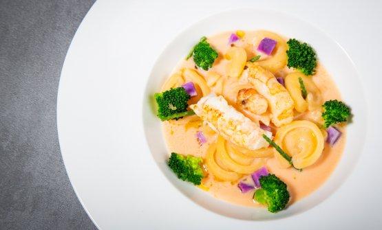 Zuppa dell'Adriatico con pasta e broccoli