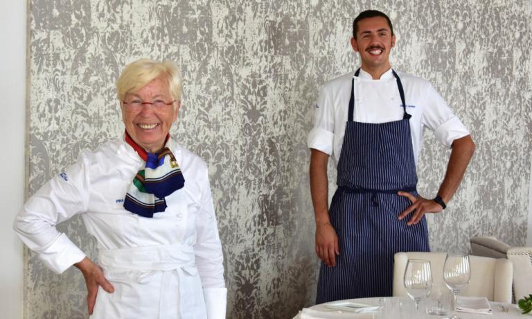 Pina Beglia ed Enrico Marmo, due generazioni di chef ai Balzi Rossi(foto Saverio Chiappalone/Reporter Gourmet)