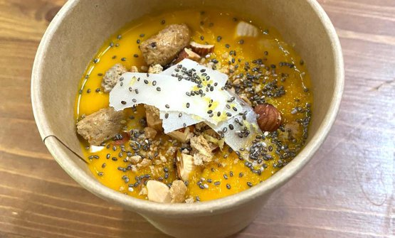 Zuppa carota e zenzero