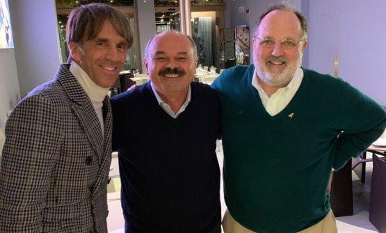Davide Oldani, Oscar Farinetti e Paolo Marchi