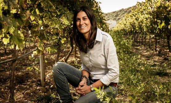 Antonella Corda nelle sue vigne di Serdiana
