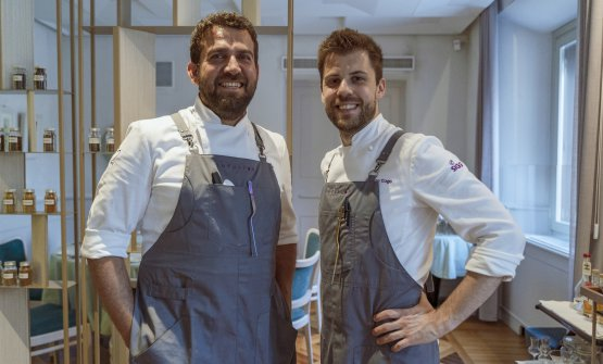 Lorenzo Cogo (a destra) con il turco Maksut Askar, protagonista di uno degli ultimi eventi di InFusion