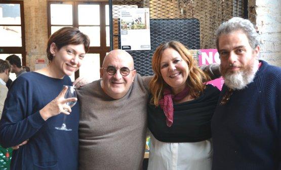 Gli organizzatori della rassegna: Manuela La Iacona, Franco Virga, Stefania Milano, Giovanni Gagliardi