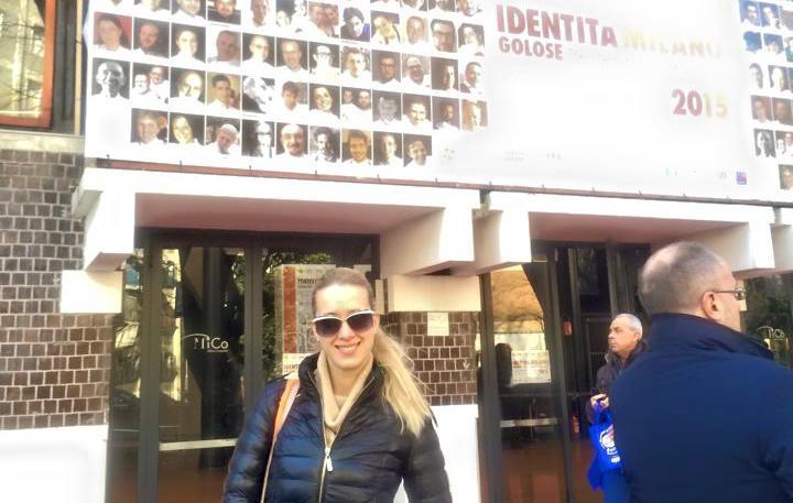 Anna in visita all'ultima edizione di Identità Milano, prima fonte di ispirazione del congresso ucraino