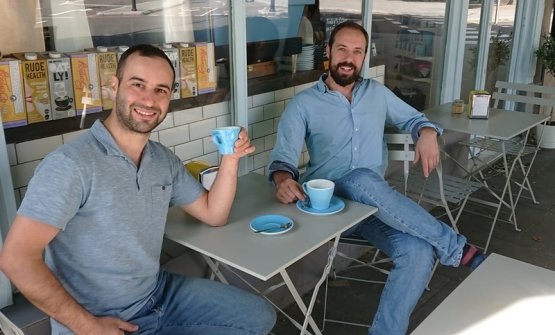 Simone Guerini Rocco (right) and Roberto d'Alessandro (left), 80 Stone Coffee Roasters