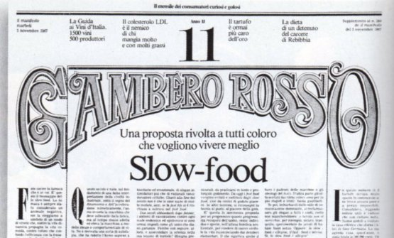 The Slow-food manifesto published on the 3rd Nov