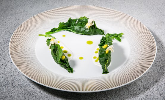 S-Foglia: broccoletti, maiale e mandorle