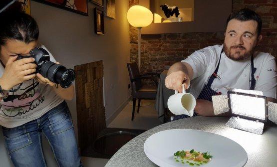Andrea Larossa è chef-patron del ristorante Larossa ad Alba (Cn)