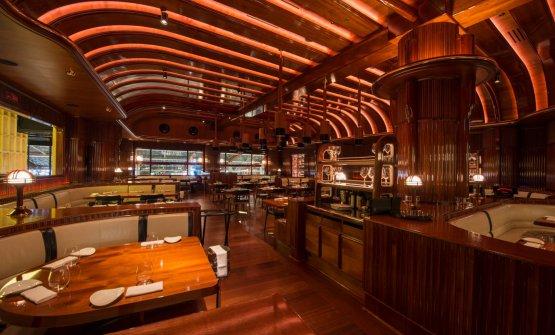 E gli splendidi interni del ristorante