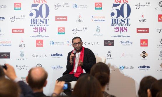Conferenza stampa finale per Gaggan Anand, miglior chef asiatico per la 50Best, per il quarto anno consecutivo (foto Asia's 50 Best Restaurants, sponsored by S.Pellegrino & Acqua Panna)