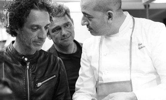 Cuttaia con Salvatore Ficarra, del duo Ficarra & Picone