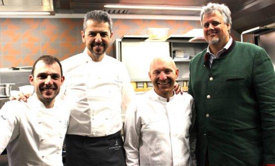 Lenzi, Berton, Ghezzi eLuis Contreras(foto Sara Biondi)