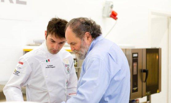 Con il presidente dell'Accademia italiana del Bocuse d'OrLuciano Tona