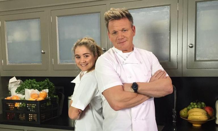 Con la figlia Matilda, classe 2001, attrice, chef e presentatrice televisiva