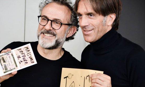 Con Massimo Bottura
