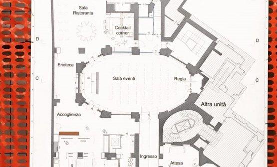 Un dettaglio della planimetria dei nuovi spazi
