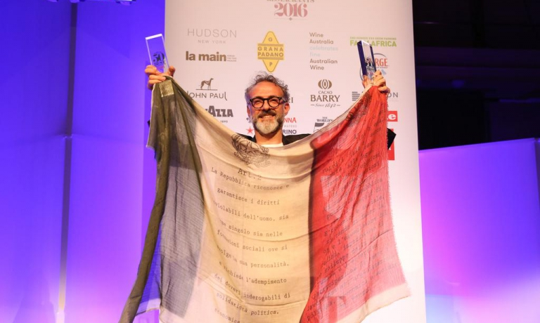 Il primo trionfo di Bottura, nel 2016