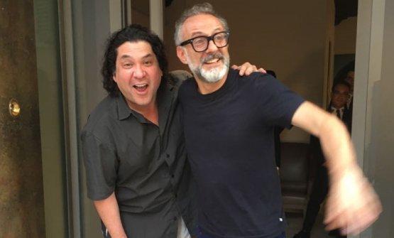 Acurio con Massimo Bottura