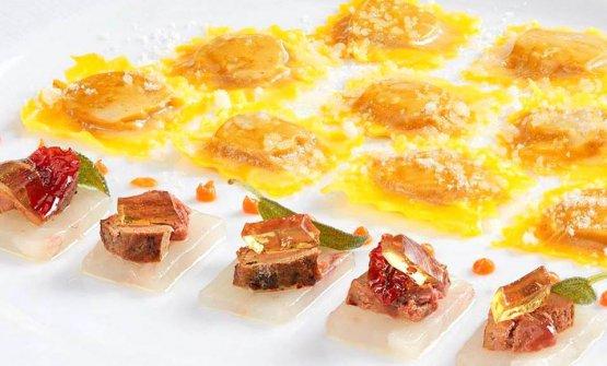 Un nuovo piatto di Gianfranco Vissani