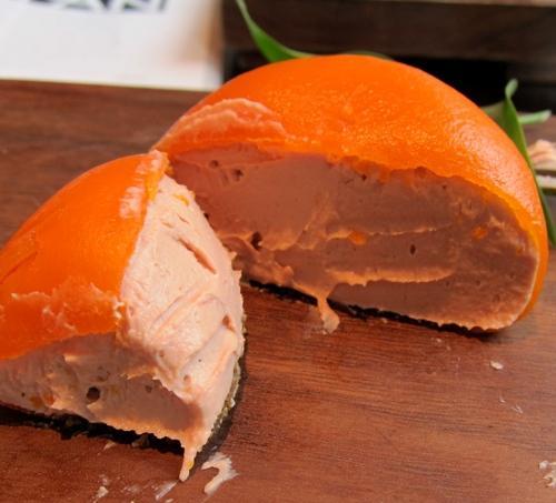 Il celebre Parfait di fegato di pollo con gelatina al mandarino di Heston Blumenthal, un piatto presentato alla prima edizione di Identità London, 2009. Per Sultano, il migliore assaggio londinese