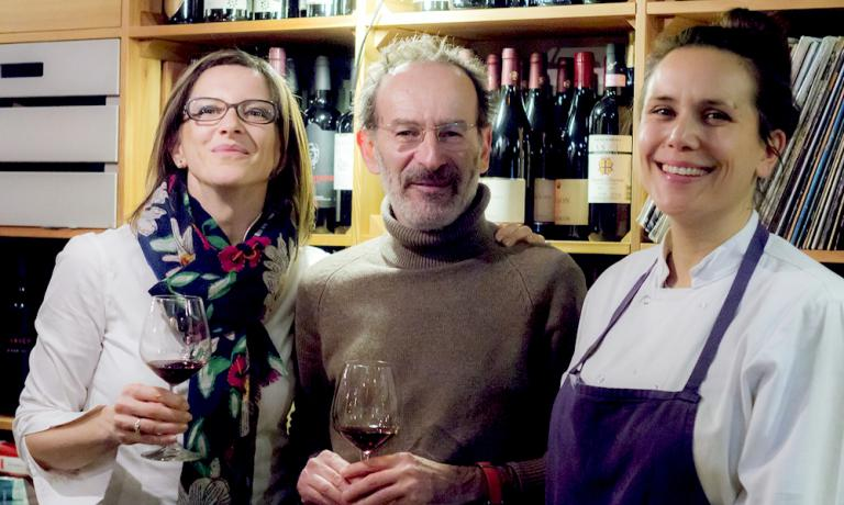 Left to right, Sofia Pepe, wine importer Dan Lerne