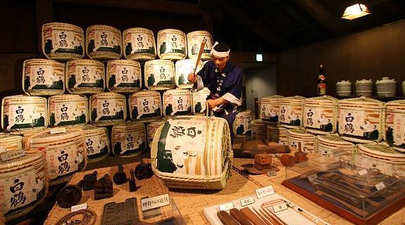 Una fabbrica tradizionale di sake