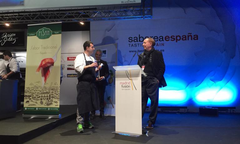 Ricard Camarena col critico gastronomicoJoséCarlosCapel. Lo chef di Valencia sarà tra i protagonisti anche di Identità Milano
