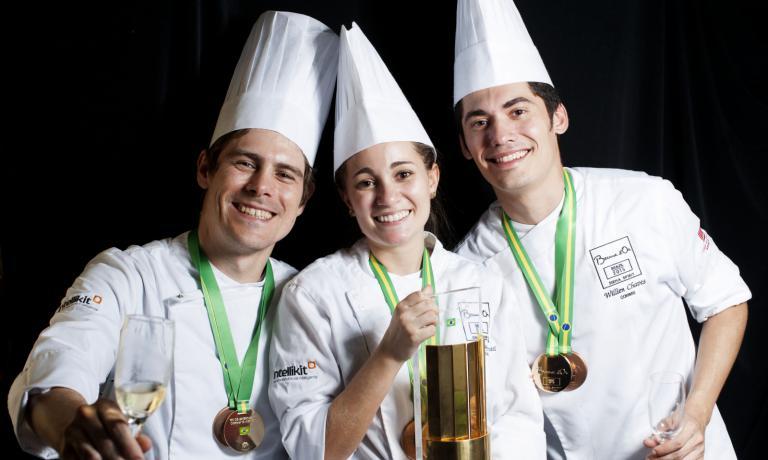 Il team brasiliano vincitore del Bocuse d'Or sudamericano