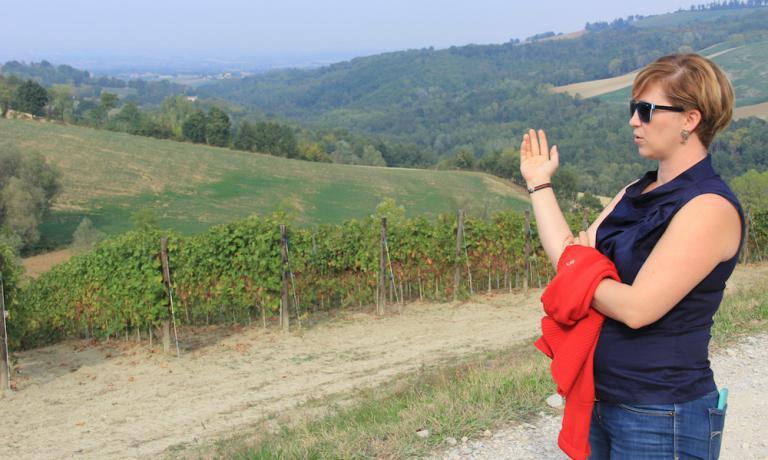 Gaia Bucciarelli,Santa Giustina,sta cercando di ragionare sui vitigni storici del Piacentino