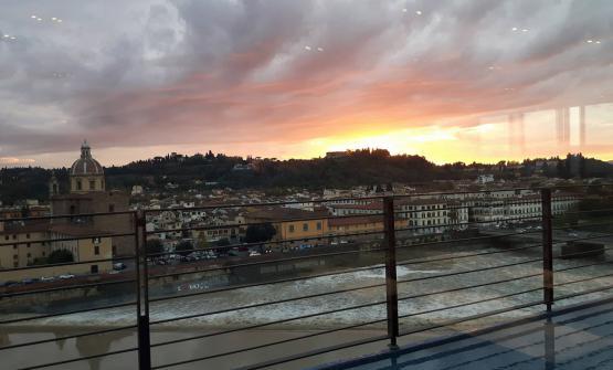 La scenografica vista sull'Arno