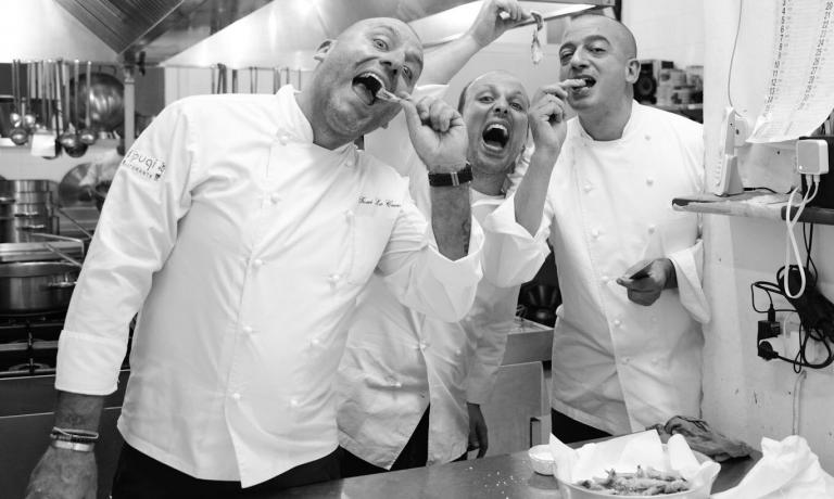 Toni Lo Coco, Giuseppe Costa e Pino Cuttaia