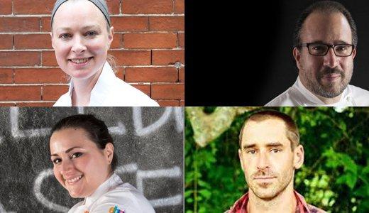 I protagonisti di Identità Boston (13 ottobre): Michele Carter,Michael Schlow,Chris Fischere Caterina Ceraudo