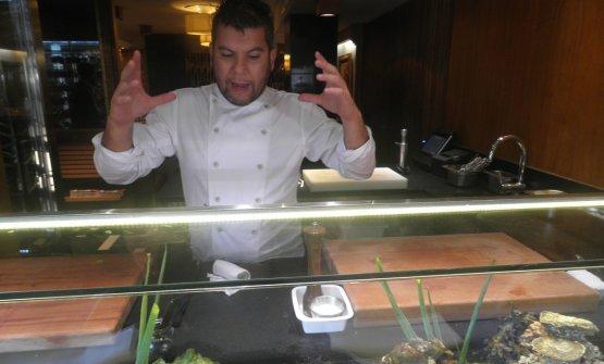 Lo chef Ever Cubillas (foto Regol)